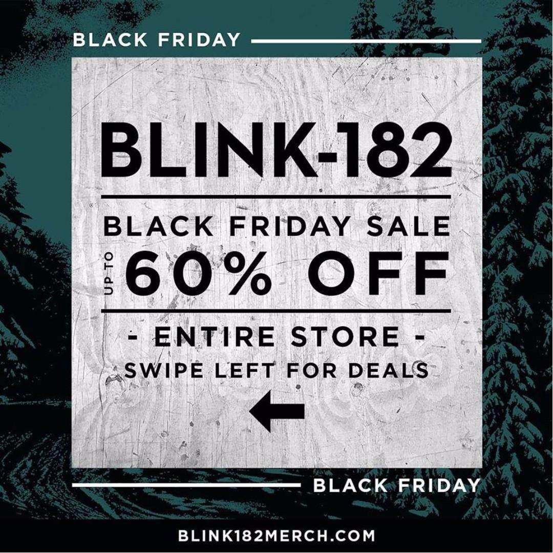 BLACK FRIDAY SALE !!! Open Pre Order Official Merch Blink-182