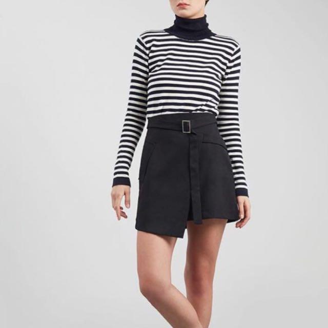 Black skirt - rok hitam - rok korea - skort