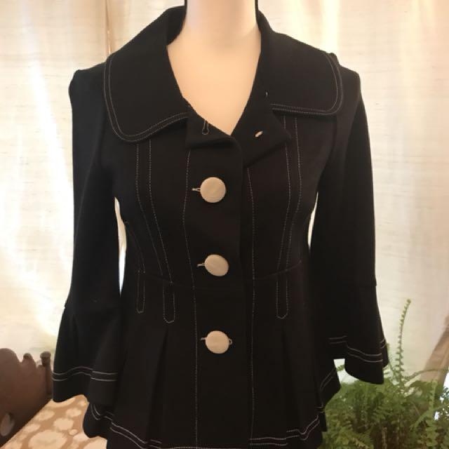 Black Stretch Peplum blazer Sz S