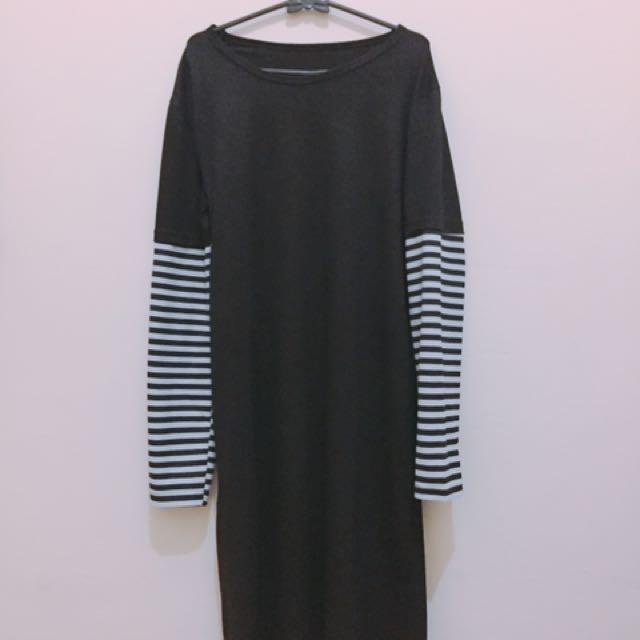 Black stripes tunik