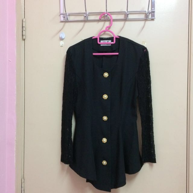 Black Vintage Top / Blouse