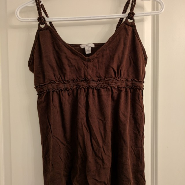 Blue navy - Brown sleeveless top