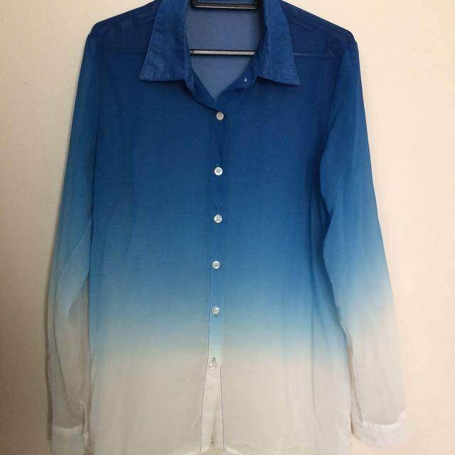 Blue Ombre Gradient shirt
