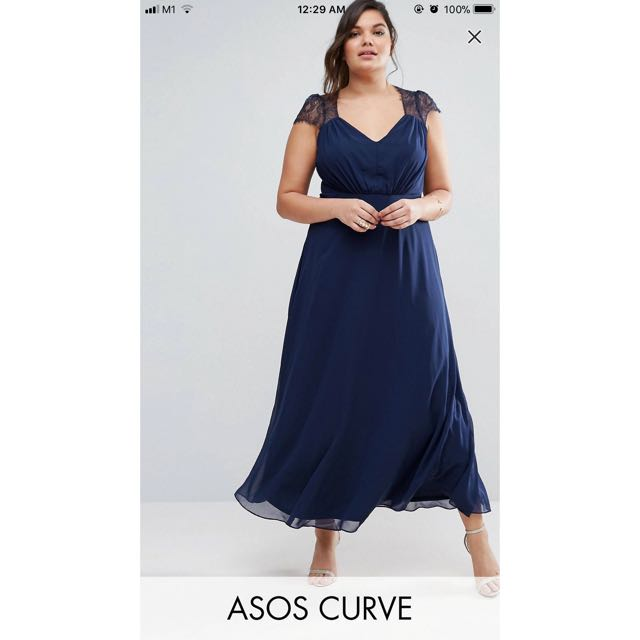 788e824092f BNWT ASOS curve maxi dress   plus size   evening dress