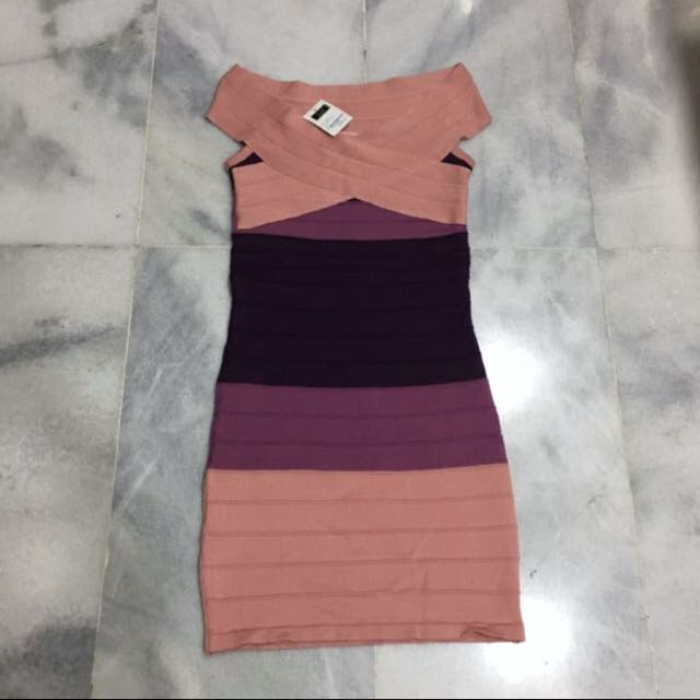 BNWT Herve leger inspired bodycon dress