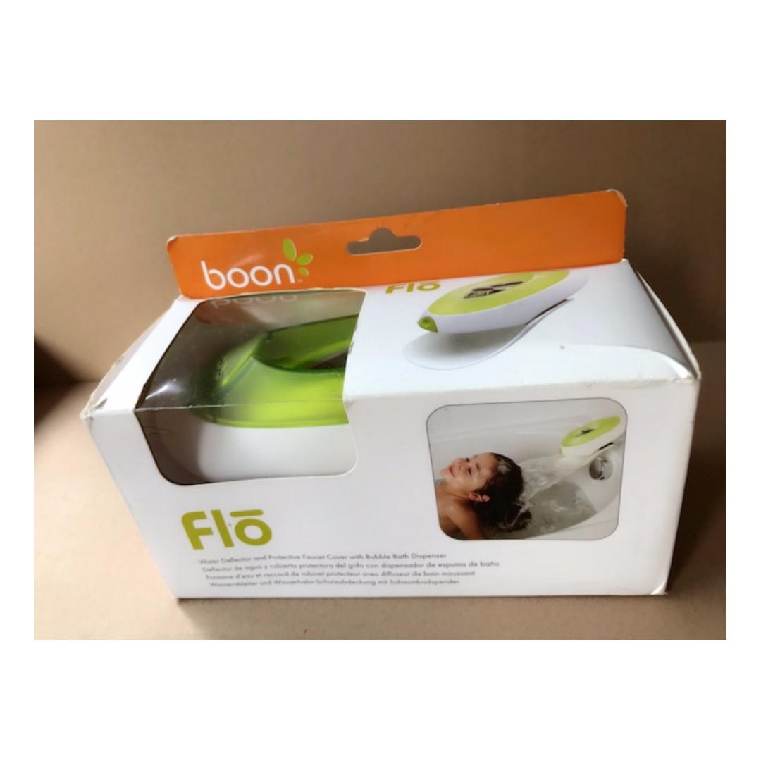 Boon Flo Water Deflector and Protective Faucet Cover with Bubble Bath Dispenser,