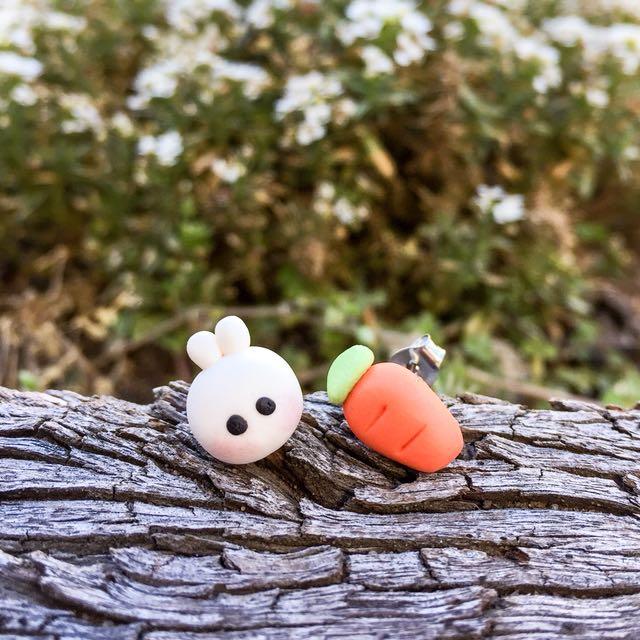Bunny + Carrot Earrings