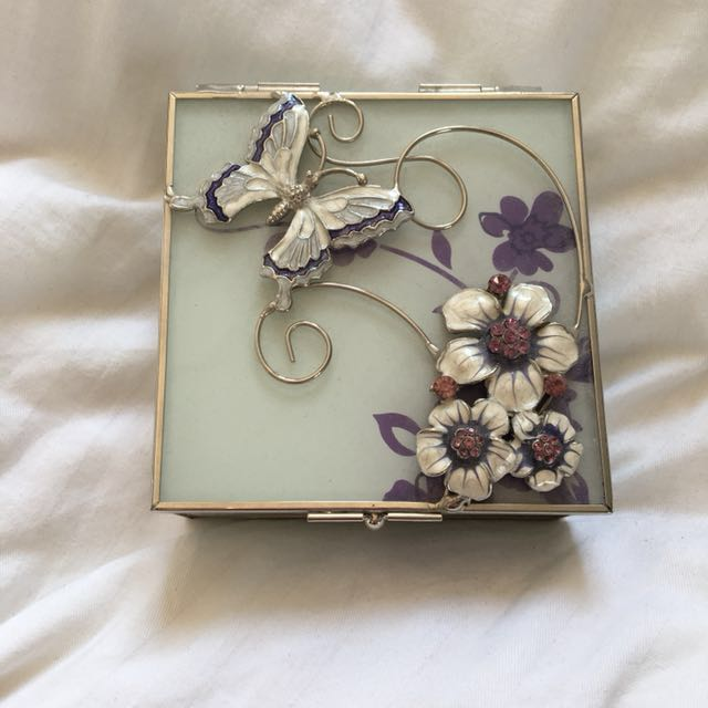 Butterfly and Flower Jewellery Box