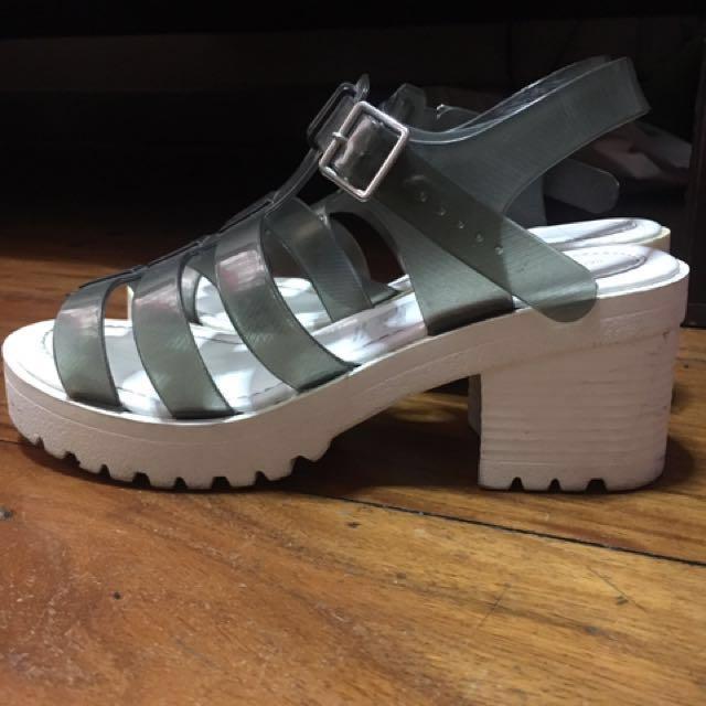Call It Spring platform jelly sandals