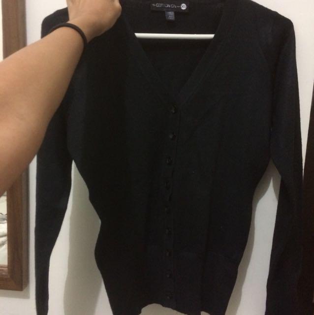 Cardigan hitam cotton on