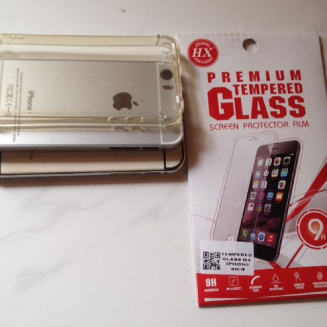 Case iphone 5/5s + Tempered glass