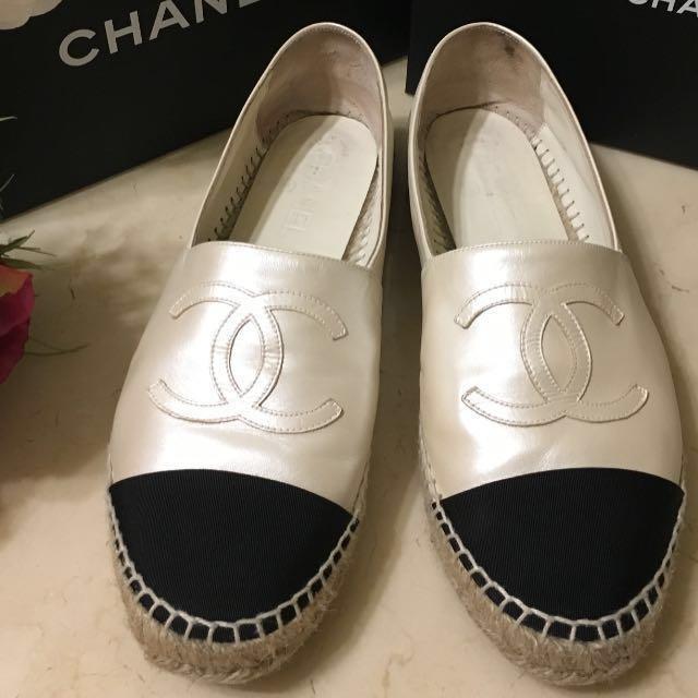 Chanel珍珠白鉛筆鞋(正品)尺寸39❤️2017限量版珍珠白❤️