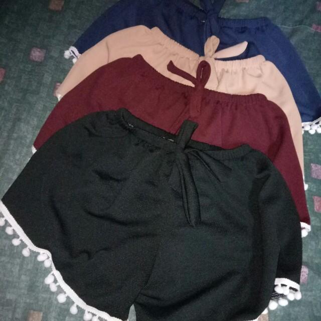 cotton shorts.