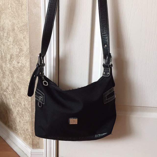 Daiersi Black Leather Strap Crossbody Shoulder Purse