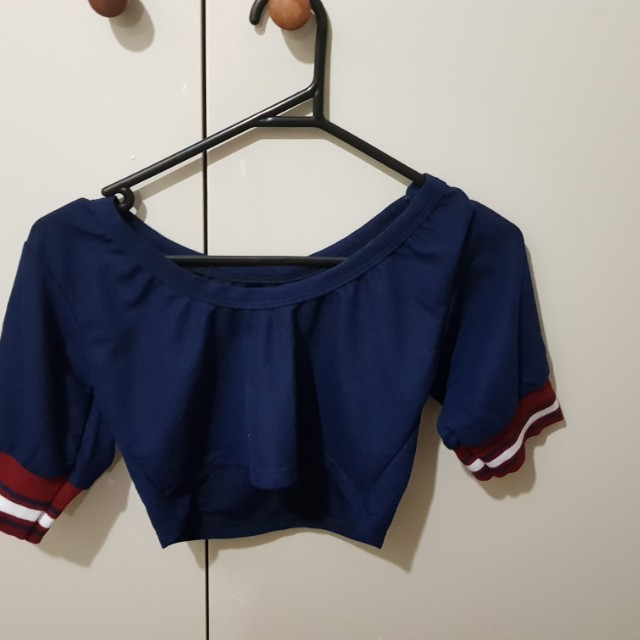 Dark blue crop top