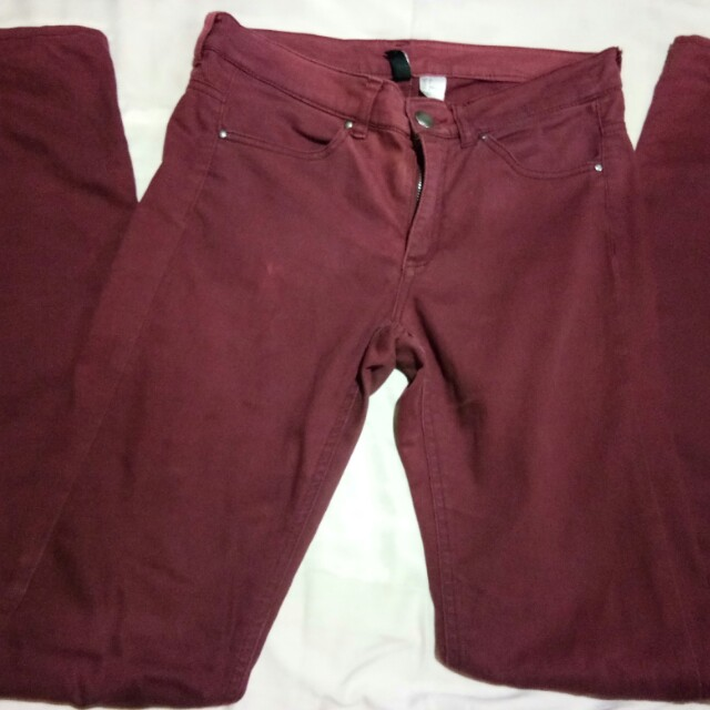 Divided by H&M maroon pants