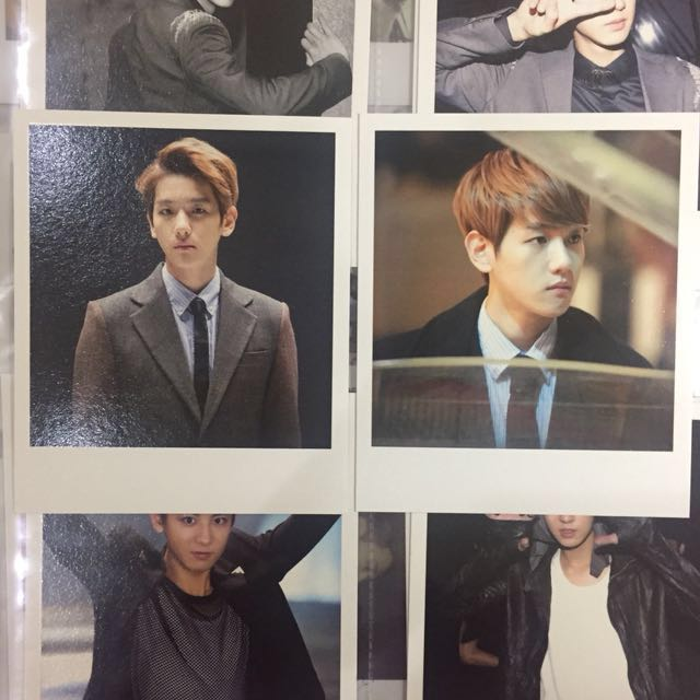 EXO polaroid Baekhyun Miracles in December photocard album pc