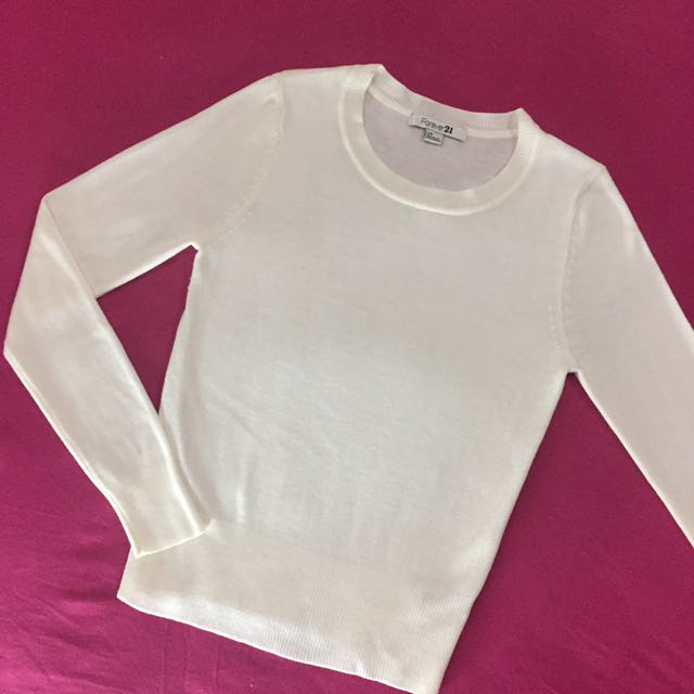 F21 White Longsleeves