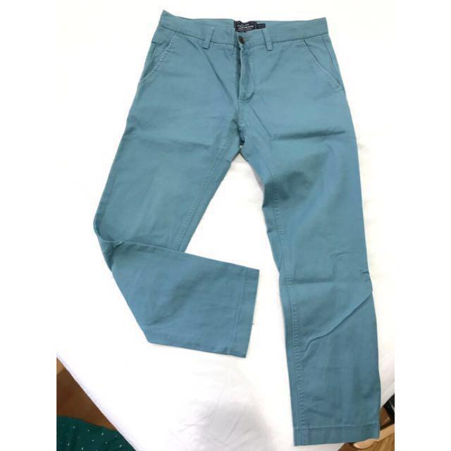[final price] topman 祖母綠/藍休閒長褲