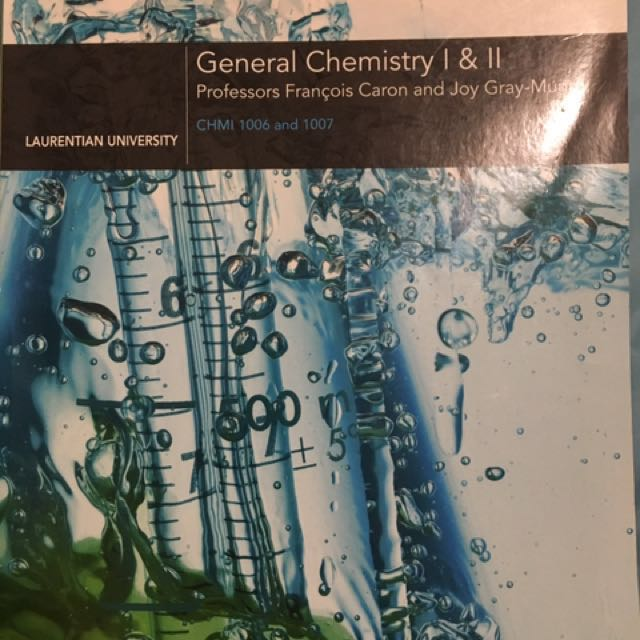 General chemistry 1 and 2