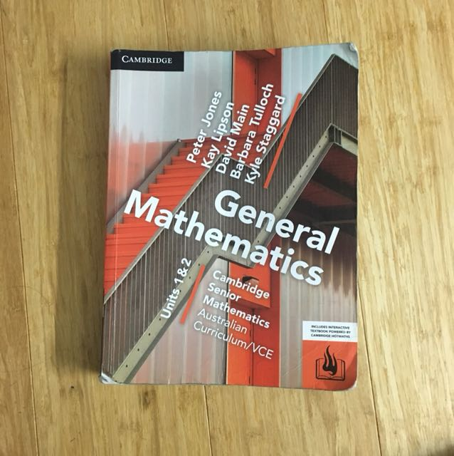 General maths textbook unit 1/2
