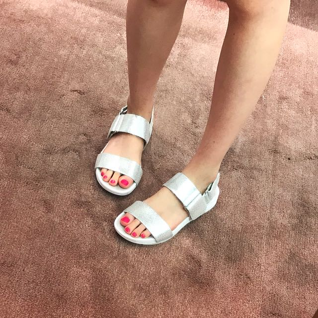 GEOX SILVER SANDALS