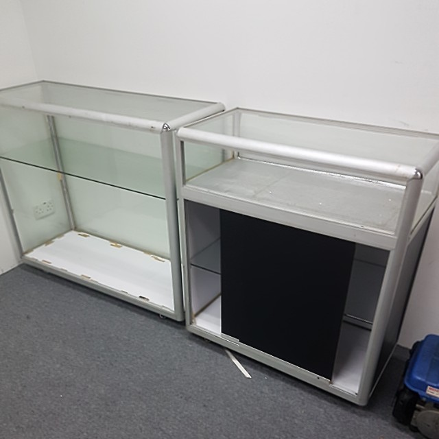 Glass counter and enclosure