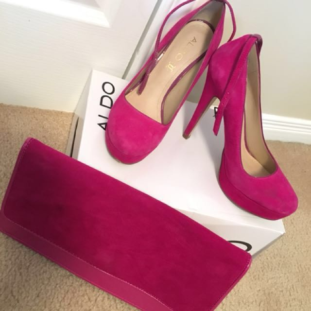 Heels with matching clutch (size 38 from Aldo)