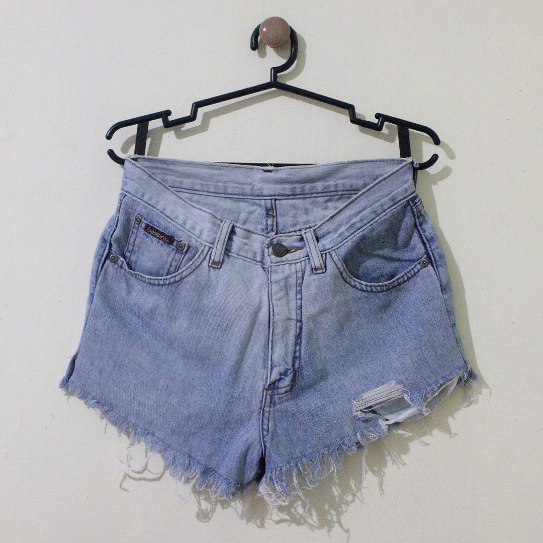 High Waist Tattered Denim Shorts (Brand: Bossini)