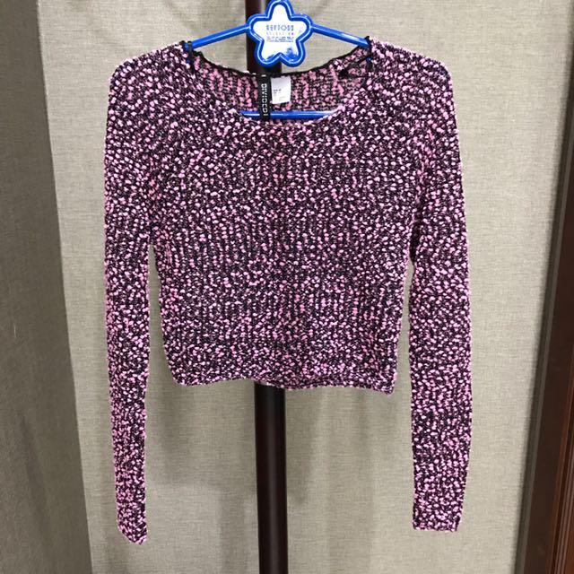 H&M knit crop top