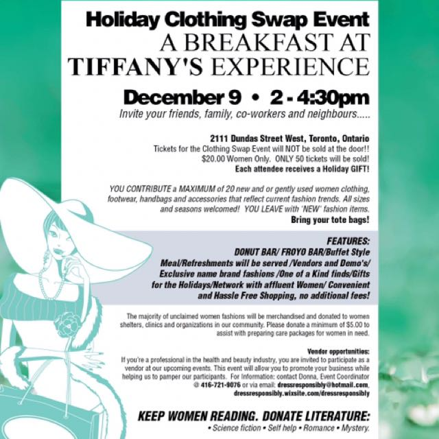 Holiday Clothing Swap Event: Breakfast at Tiffany's Experience