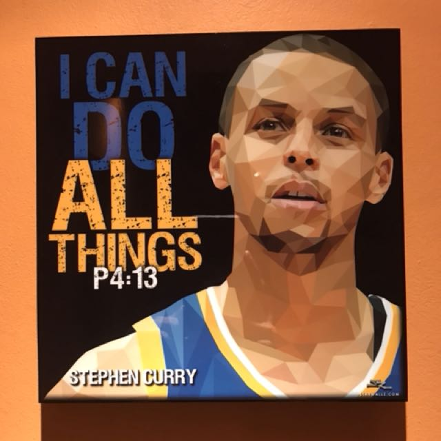 I Can Do All Things Stephen Curry Pop Art Furniture Home Decor