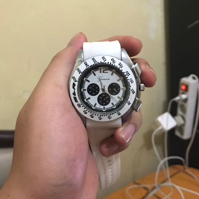 Imported From US Geneva White Watch