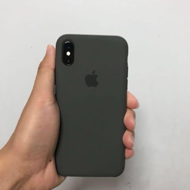 super popular 5d32b 1bf7f iPhone X Apple Silicone Case (Dark Olive)