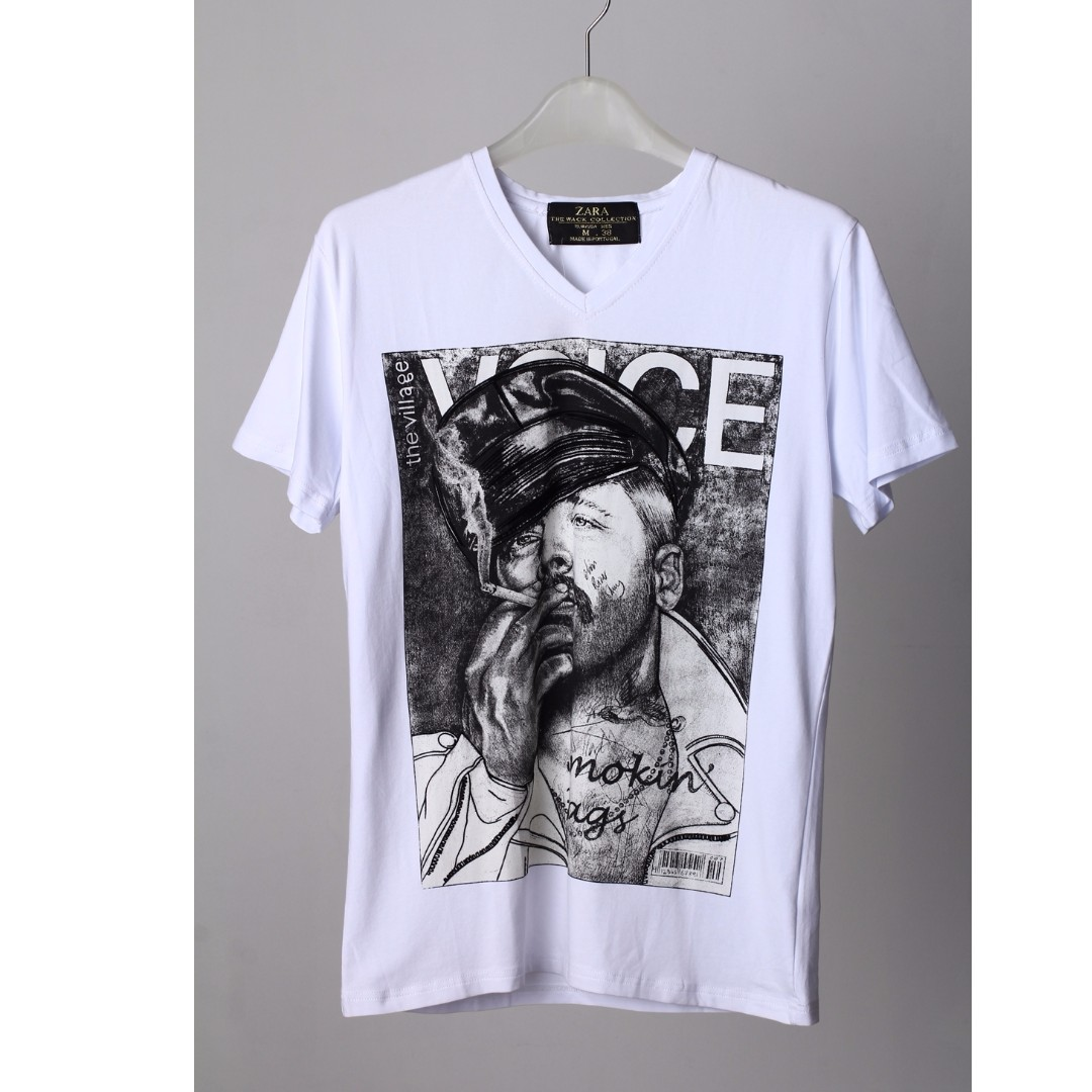 Kaos Zara import slim fit size M