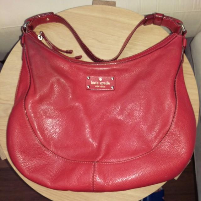 Kate Spade red hobo bag