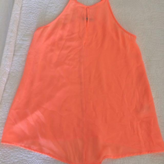 Kookai Neon Orange Shirt