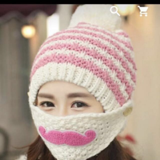 Korean Winter Beanie with winter face mask 10fc9140bcb
