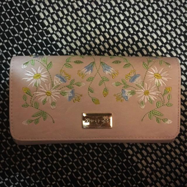 Laura Jones embroidered wallet