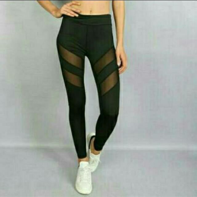 Legging Sport Fashion Mesh T925