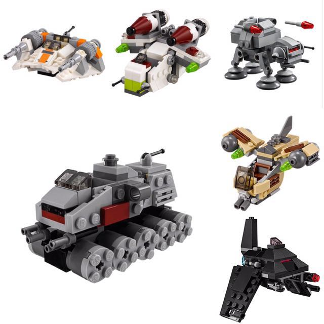 Lego Star Wars Mircrofighters Vehicles (No Minifigures), Toys ...