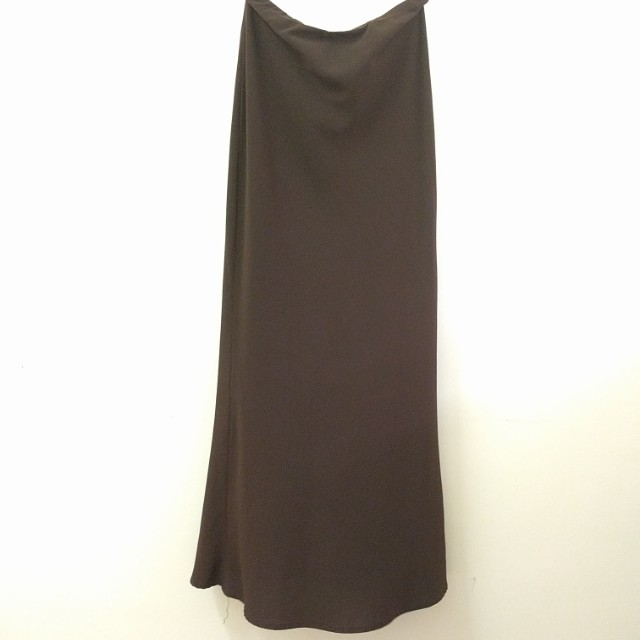 Long/maxi skirt in dark brown