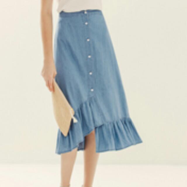 Lovfee牛仔魚尾裙深藍色XXL號全新可換物