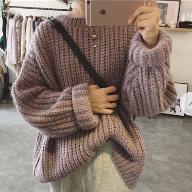 Mauve Violet Sweater