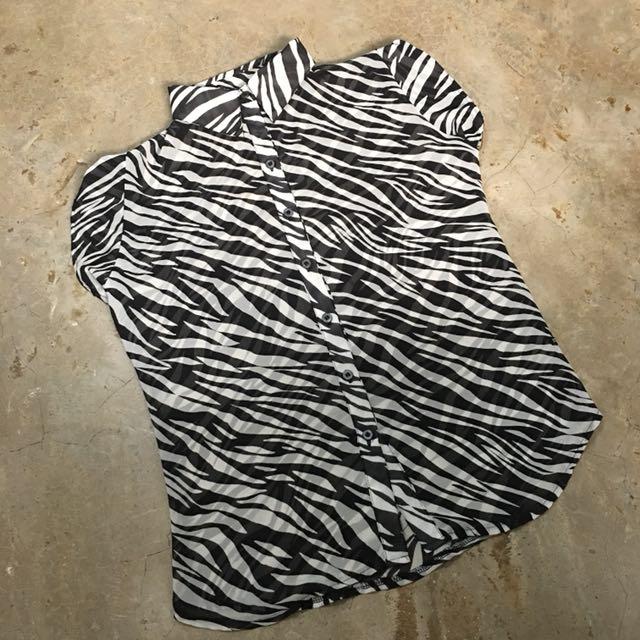Meg Sheer Zebra Polo