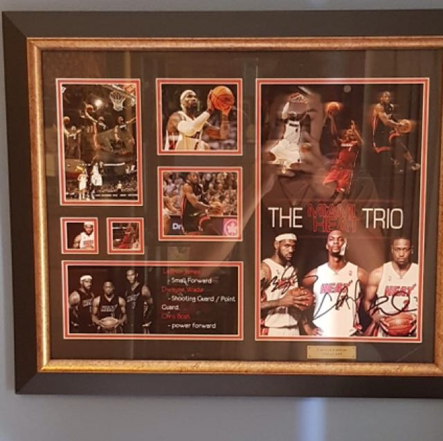 Miami Heat collectable frame