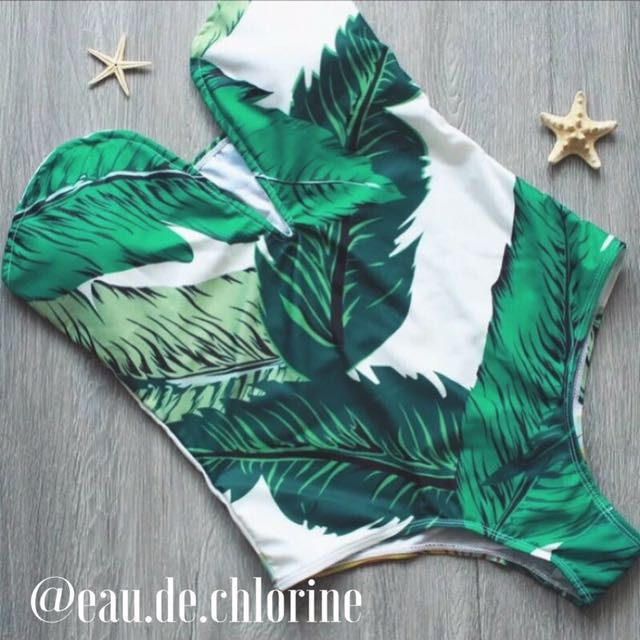 Michaela Leaf One Piece Swimsuit Monokini Swimwear