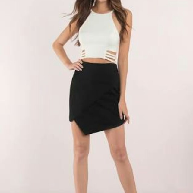 Mini skirt asymmetrical