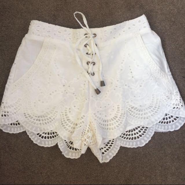 Mink Pink Lace Shorts