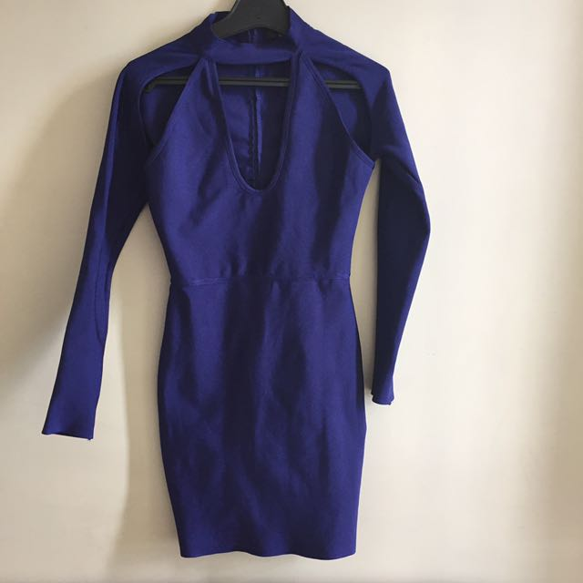 Misguided purple crop dress size 6
